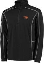 Columbia Unbranded Men's Golf Black Oregon State Beavers Shotgun Quarter-Zip Pullover