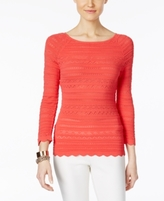 INC International Concepts Petite Mixed-Stitch Sweater, Created for Macy's