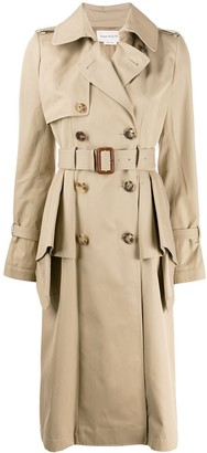Alexander McQueen Ruffled Trench Coat