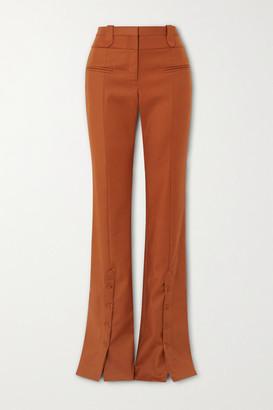 Altuzarra Ned Cotton-blend Twill Flared Pants - Camel