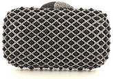 Kate Landry Criss-Cross Beaded Minaudiere Clutch