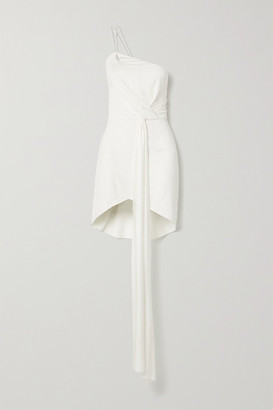 TRE by Natalie Ratabesi The Quartz One-shoulder Draped Silk-jersey Mini Dress - Ivory