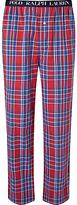 Polo Ralph Lauren Woven Cotton Check Lounge Pants, Red