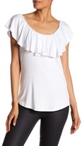 Cable & Gauge Off-the-Shoulder Ruffle Blouse