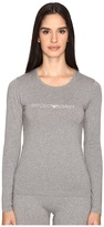 Emporio Armani Visibility Stretch Cotton Long Sleeve T-Shirt Women's T Shirt