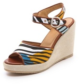 A.P.C. Zebra Wedge Sandals