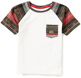 Lucky Brand Little Boys 2T-7 Longshore Solid Color Block Slub Jersey Striped-Sleeve Pocket Short-Sleeve Tee