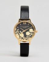 Olivia Burton Lace Detail Leather Watch OB16MV60