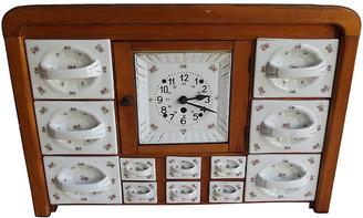 One Kings Lane Vintage Hanging Canister Set with Clock - Schorr & Dobinsky