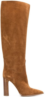 Casadei Pointed Toe Knee-High Boots