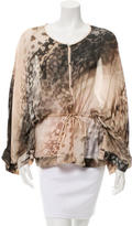 Roberto Cavalli Oversize Abstract Print Blouse