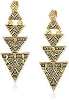 House Of Harlow Pave Tribal Triangle Drop Earrings