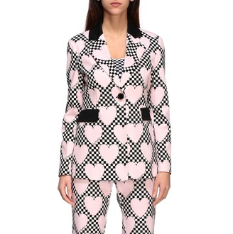 Love Moschino Suit Jacket With All Over Hearts
