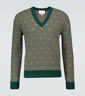 Gucci GG striped wool sweater
