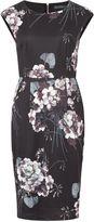 Sugarhill Boutique Lori Greyscale Floral Shift Dress