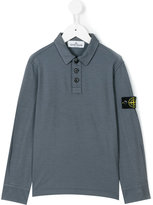 Stone Island Junior - logo patch polo shirt - kids - Cotton/Spandex/Elastane - 2 yrs