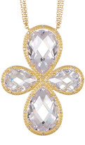 Freida Rothman 14K Gold Plated Sterling Silver CZ Pendant Necklace