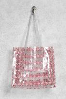 Forever 21 Flamingo Print Clear Tote