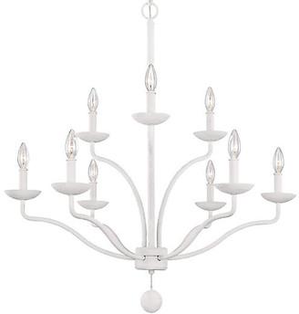 Feiss Annie 9-Light Chandelier - Plaster White
