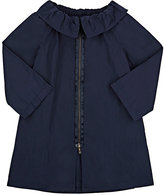 Lanvin TECH-TAFFETA COAT-NAVY SIZE 4