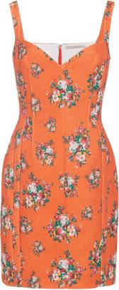Emilia Wickstead Fyfe Floral Fitted Cloque Mini Dress
