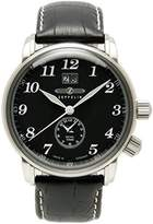 Zeppelin Mens Watch 76442 with Black Dial and Black Leather Strap