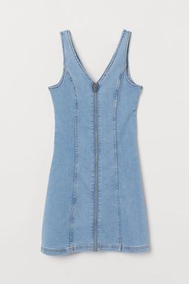 H&M Short Denim Dress - Blue