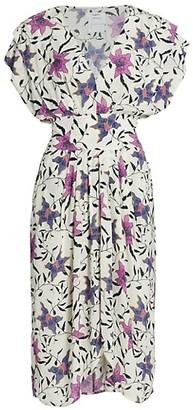Etoile Isabel Marant Omeya Floral Print Midi Dress
