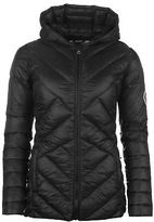 Soul Cal SoulCal Womens Micro Bubble Hooded Jacket Padded Coat Top Lightweight Zip Full