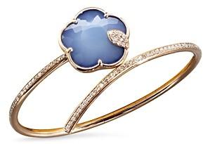 Pasquale Bruni 18K Rose Gold Joli Gemstone Bangle Bracelet with White & Champagne Diamonds