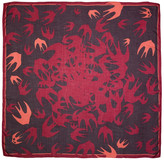 McQ Purple & Pink Swallow Swarm Scarf