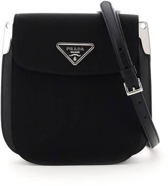 Prada Logo Plaque Crossbody Bag