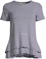 MICHAEL Michael Kors Feeder Stripe Double-Hem Top