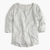 J.Crew Vintage cotton three-quarter-sleeve dolman T-shirt in metallic