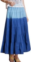 uxcell Ladies Mid Rise Contrast Color Elastic Waist Peasant Skirts