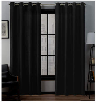 "Exclusive Home Loha Linen Grommet Top Window Curtain Panel Pair, 54"" x 84"""
