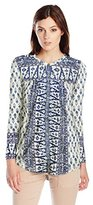 Lucky Brand Women's Woodblock Printed Top