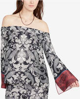 Rachel Roy Paisley-Print Off-The-Shoulder Top, Created for Macy's