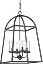 Quoizel Gazebo 4-Light Cage Chandelier in Grey Ash