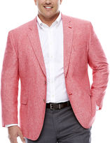 STAFFORD Stafford Linen Cotton Red Sport Coat-Big and Tall