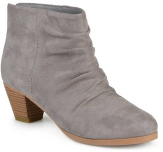 Brinley Co. Women's Faux Suede Slouch High Heel Ankle Boots