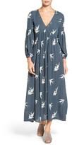 Hinge Women's Print V-Neck Maxi Dress