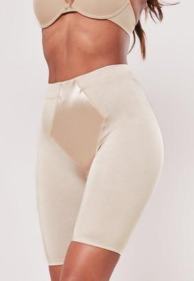 Missguided Premium Nude Satin Insert Control Shorts