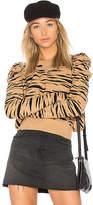 Free People Zaza Zebra Pullover Sweater