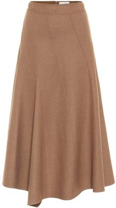 J.W.Anderson Stretch-wool midi skirt