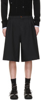Comme des Garcons Black Oversized Twill Shorts