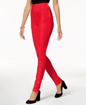 INC International Concepts Inc Petite Zip-Detail Skinny Pants, Created for Macy's