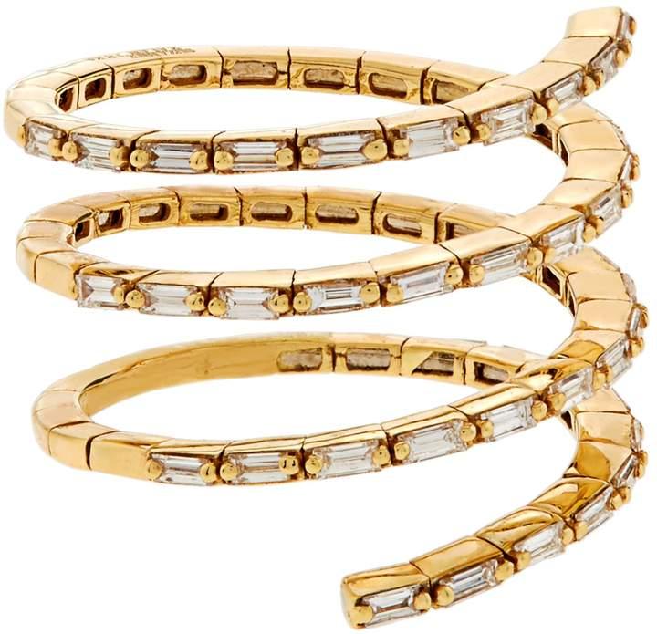 Suzanne Kalan White Diamond Spiral Ring