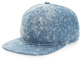 Gents Men's Nick Washed Denim Baseball Cap - Blue