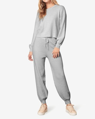 Express Bb Dakota Ribbed Sweater Jogger